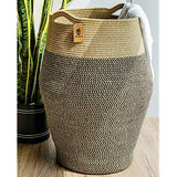 Goodpick Tall Laundry Hamper | Woven Jute Rope Dirty Clothes Hamper Modern Hamper Basket Large in Laundry Room 256 Height iN0-B07WR7BX97