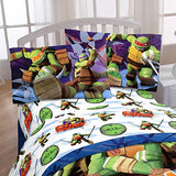 Nickelodeon Teenage Mutant Ninja Turtles Stars 3 Piece Microfiber Twin Sheet Set Nina Training 25J-B00BTP031Q