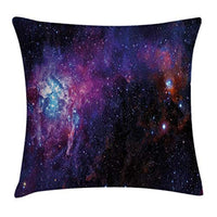 Ambesonne Galaxy Throw Pillow Cushion Cover Starry Night Nebula Cloud Celestial Theme Image Space Art Elements Print Decorative Square Accent Pillow Case 20 X 20 Black Purple