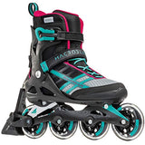 Rollerblade Macroblade 84 ABT Womens Adult Fitness Inline Skate Emerald Green and Cherry Performance Inline Skates 8BH-B01MTF7YQM