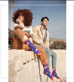 Models wearing socks from Tale Of Socks - Zodiac Sign Collection (Aries)