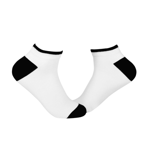 Plain Ankle/Low Cut Socks - White * Black - Tale Of Socks