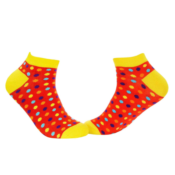 Small Polka Dots Ankle/Low Cut Socks - Red - Tale Of Socks