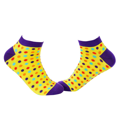 Small Polka Dots Ankle/Low Cut Socks - Yellow - Tale Of Socks