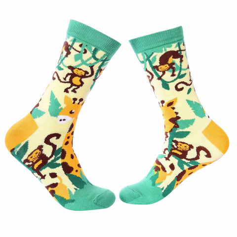 Jungle Crew Socks - Giraffe & Monkey - Tale Of Socks