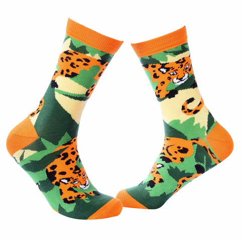 Jungle Crew Socks - Leopard - Tale Of Socks