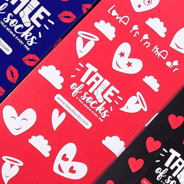 Love Is In The Air - Crew Socks - Black - Tale Of Socks