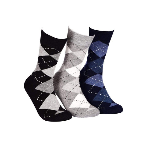 Business Crew Socks - PACK OF 3 (Grey, Black, Navy) - Tale Of Socks