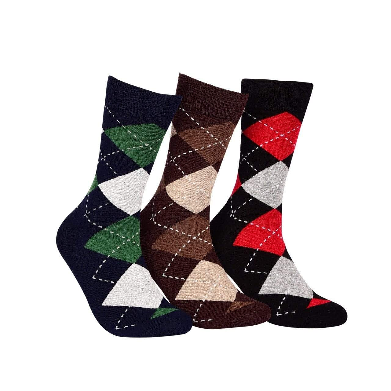 Business Crew Socks - PACK OF 3 (Navy, Black, Brown) - Tale Of Socks