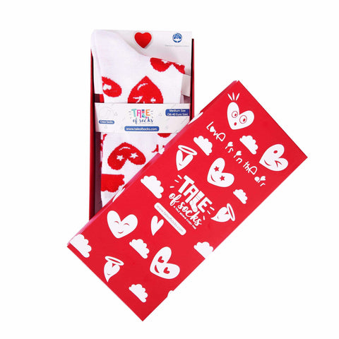 Love Is In The Air - Crew Socks - White - Tale Of Socks
