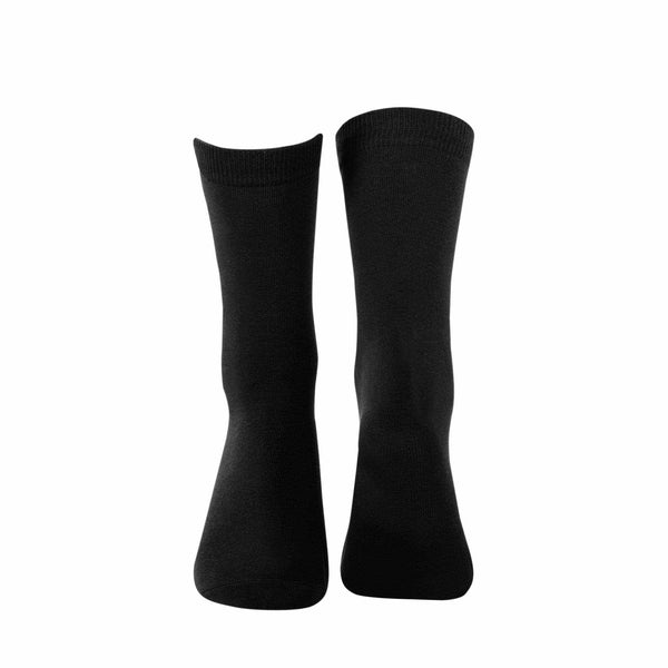 Plain Crew Socks - Black - Tale Of Socks