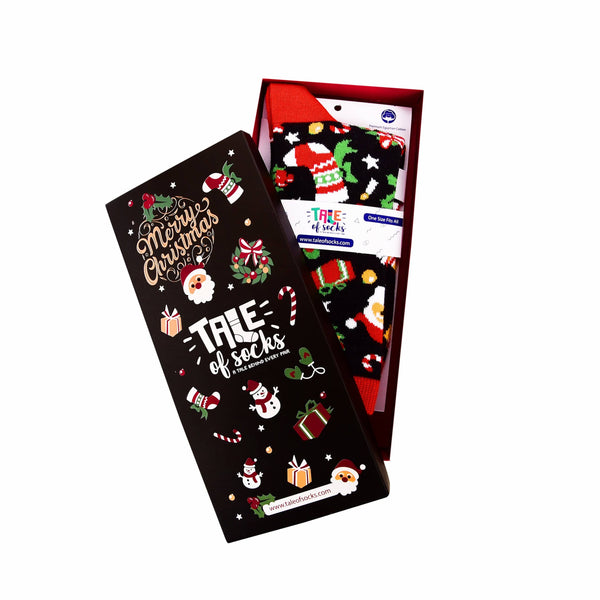 Special Edition Christmas Crew Socks Gift Box - Black Edition - Tale Of Socks