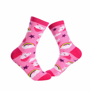 Unicorn Crew Socks - Pink - Tale Of Socks