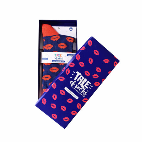 Special Edition Crew Socks - Kisses - Tale Of Socks