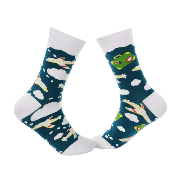 Travel Crew Socks - Flight - Tale Of Socks