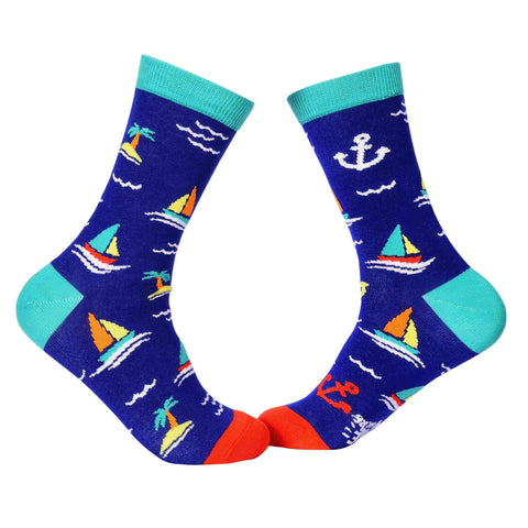 Travel Crew Socks - Sailing - Tale Of Socks