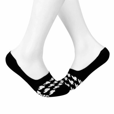 Dogtooth Invisible/Secret Socks - Black & White - Tale Of Socks