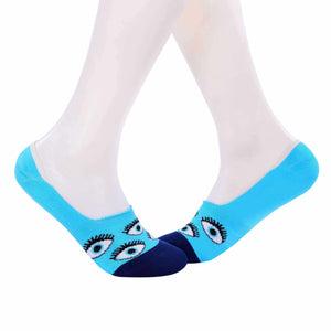 Evil Eyes Invisible/Secret Socks - Light Blue - Tale Of Socks
