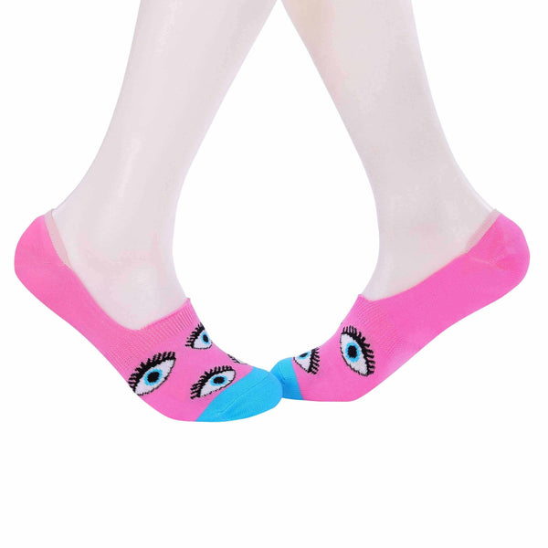 Evil Eyes Invisible/Secret Socks - Pink - Tale Of Socks