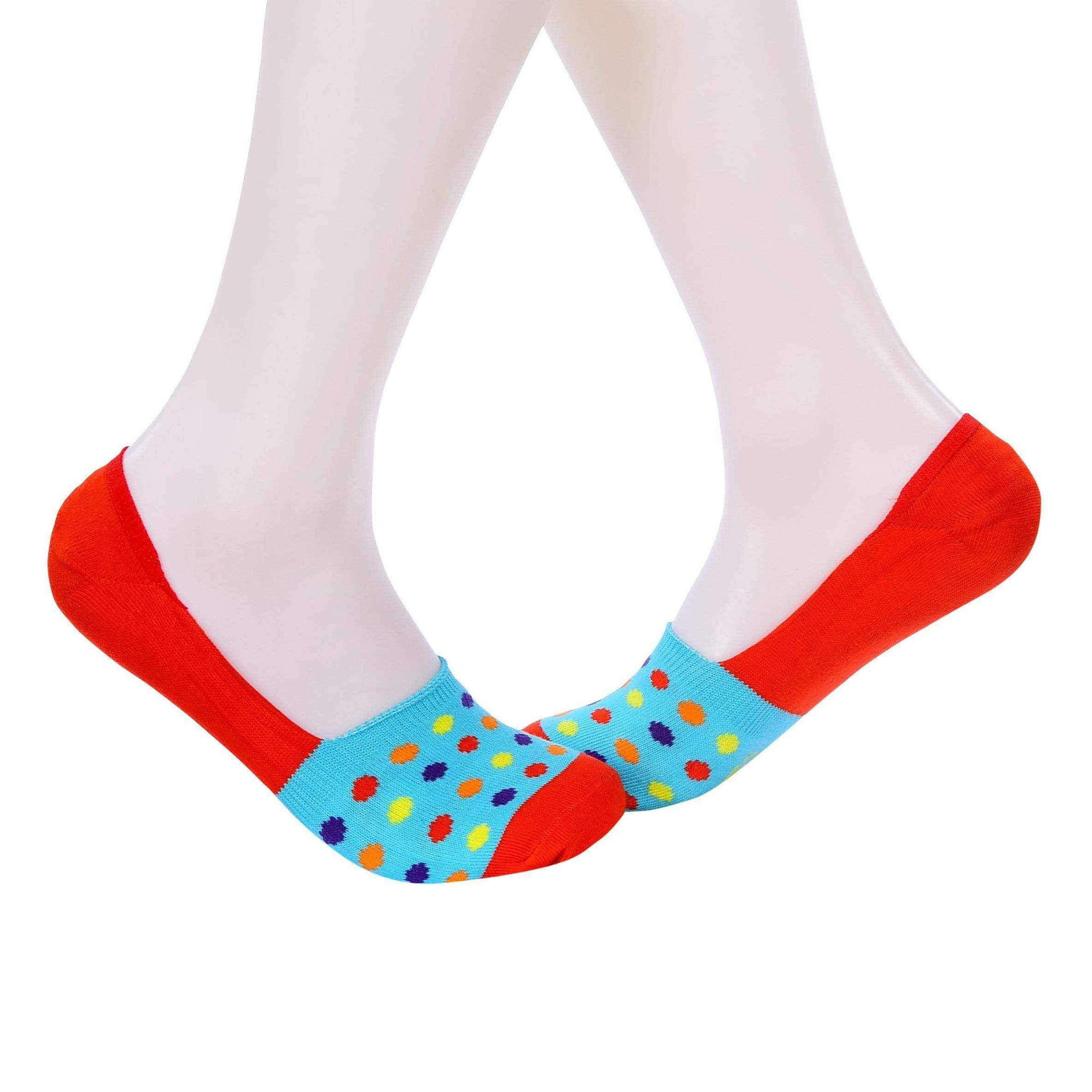 Small Polka Dots Invisible/Secret Socks - Light Blue - Tale Of Socks