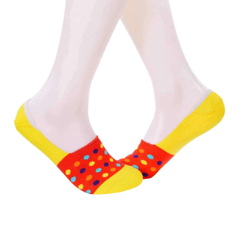 Small Polka Dots Invisible/Secret Socks - Red - Tale Of Socks