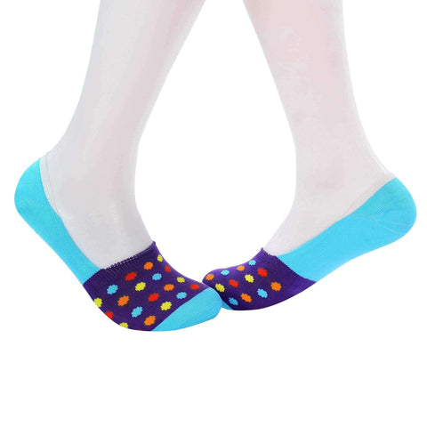 Small Polka Dots Invisible/Secret Socks - Violet - Tale Of Socks