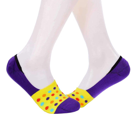 Small Polka Dots Invisible/Secret Socks - Yellow - Tale Of Socks