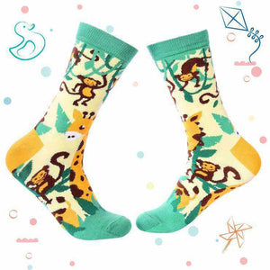 Kids Collection - Jungle Crew Socks - Giraffe & Monkey - Tale Of Socks