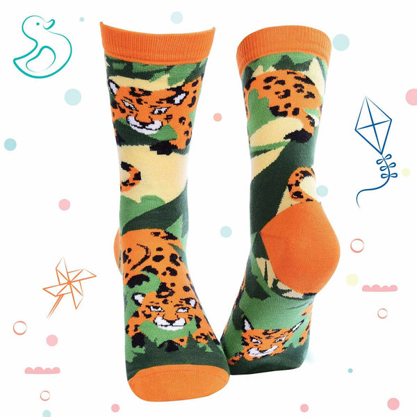 Kids Collection - Jungle Crew Socks - Leopard - Tale Of Socks