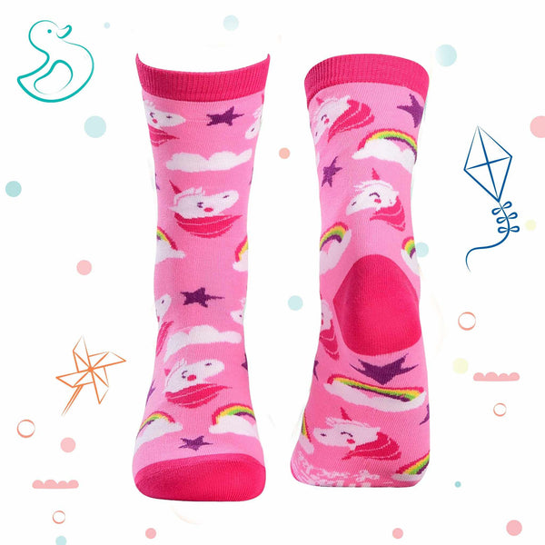 Kids Collection - Unicorn Crew Socks - Pink - Tale Of Socks