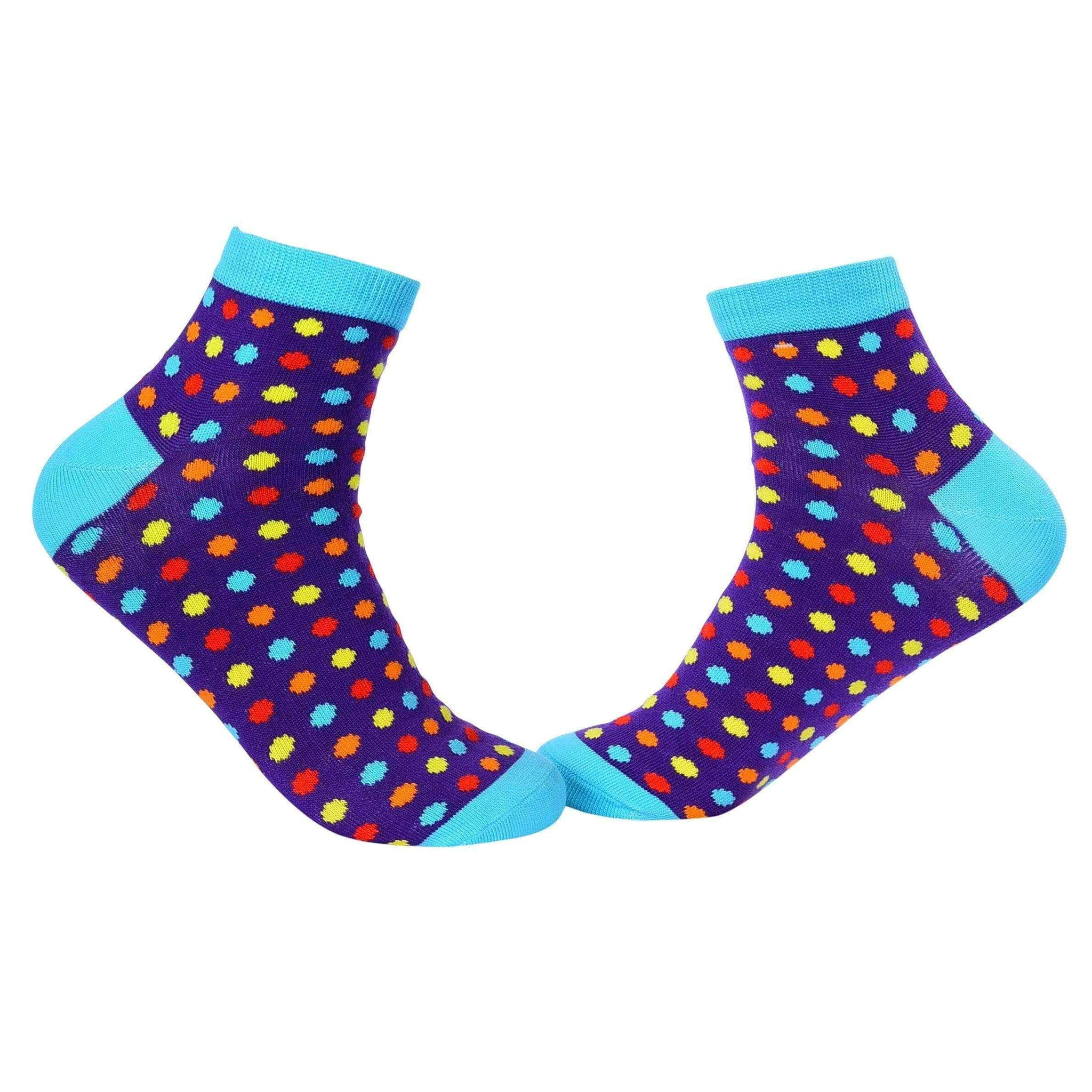 Small Polka Dots Quarter Socks - Violet - Tale Of Socks