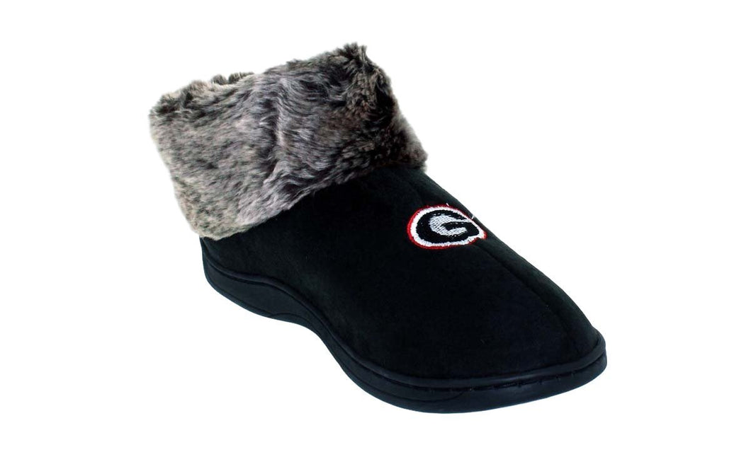 Georgia Bulldogs Faux Sheepskin Furry Top Indoor/Outdoor Slippers
