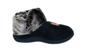 NC State Wolfpack Faux Sheepskin Furry Top Indoor/Outdoor Slippers
