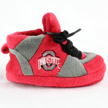 Load image into Gallery viewer, Ohio State Buckeyes Baby Slippers