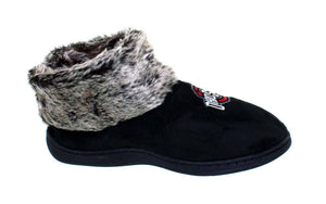Ohio State Buckeyes Faux Sheepskin Furry Top Indoor/Outdoor Slippers