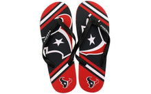 Load image into Gallery viewer, Houston Texans Big Logo Flip Flops