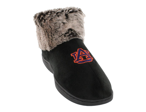Auburn Tigers Faux Sheepskin Furry Top Indoor/Outdoor Slippers