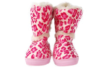 Load image into Gallery viewer, Snooki's Pink Leopard Slipper Boot