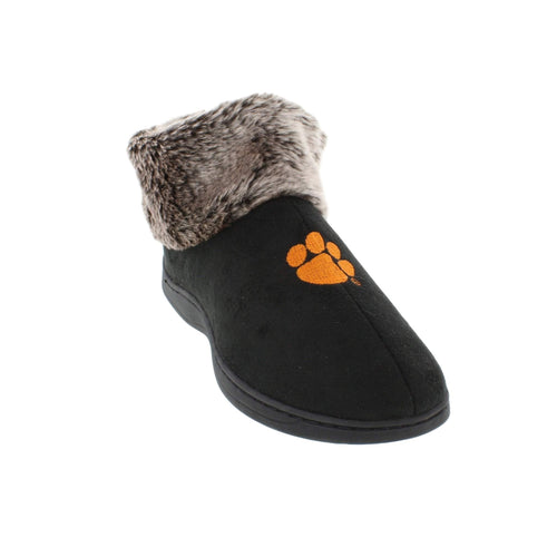 Clemson Tigers Faux Sheepskin Top Indoor/Outdoor Slippers