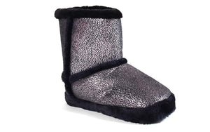 Silver Shimmer Micro Boot