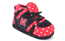 Load image into Gallery viewer, Nebraska Cornhuskers Polka Dot Slippers