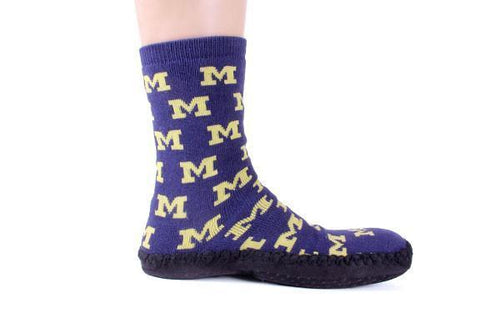 Michigan Wolverines Slipper Socks