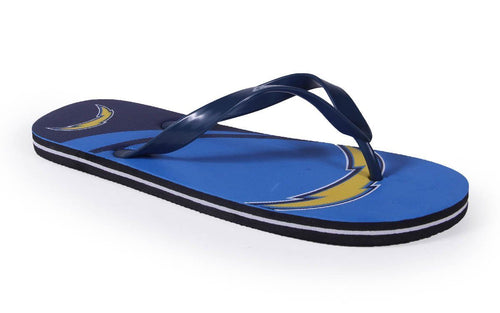 Los Angeles Chargers Big Logo Flip Flops