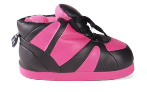 Pink and Black Imitation Leather