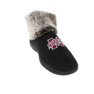 Mississippi State Bulldogs Faux Sheepskin Furry Top Indoor/Outdoor Slippers