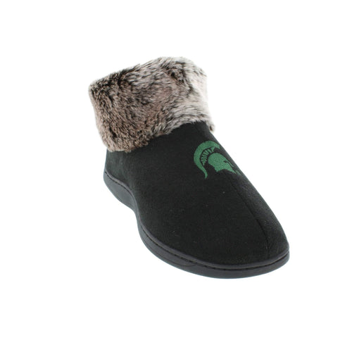 Michigan State Spartans Faux Sheepskin Furry Top Indoor/Outdoor Slippers
