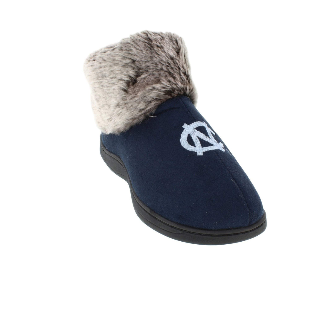 North Carolina Tar Heels Faux Sheepskin Furry Top Indoor/Outdoor Slippers