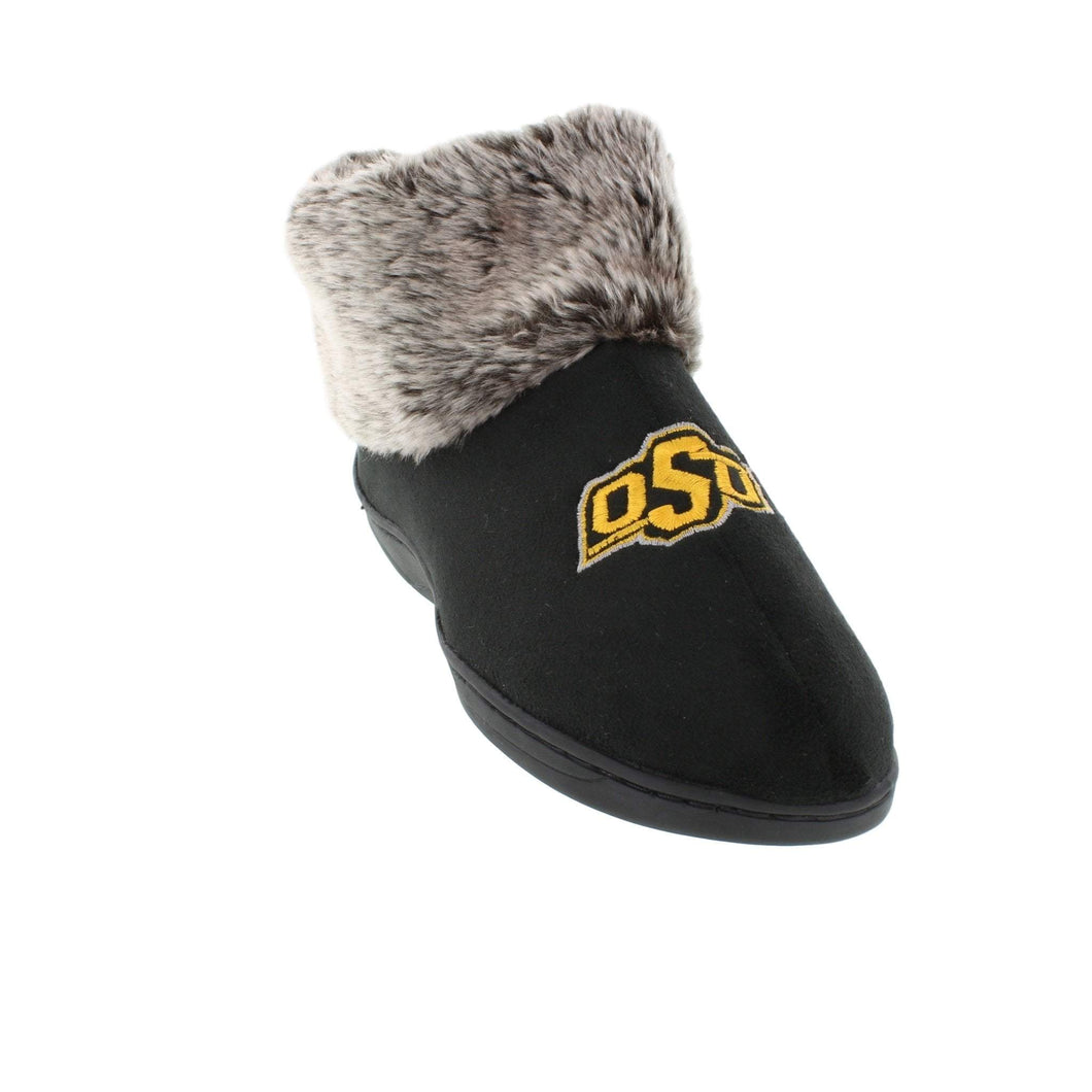 Oklahoma State Cowboys Faux Sheepskin Furry Top Indoor/Outdoor Slippers