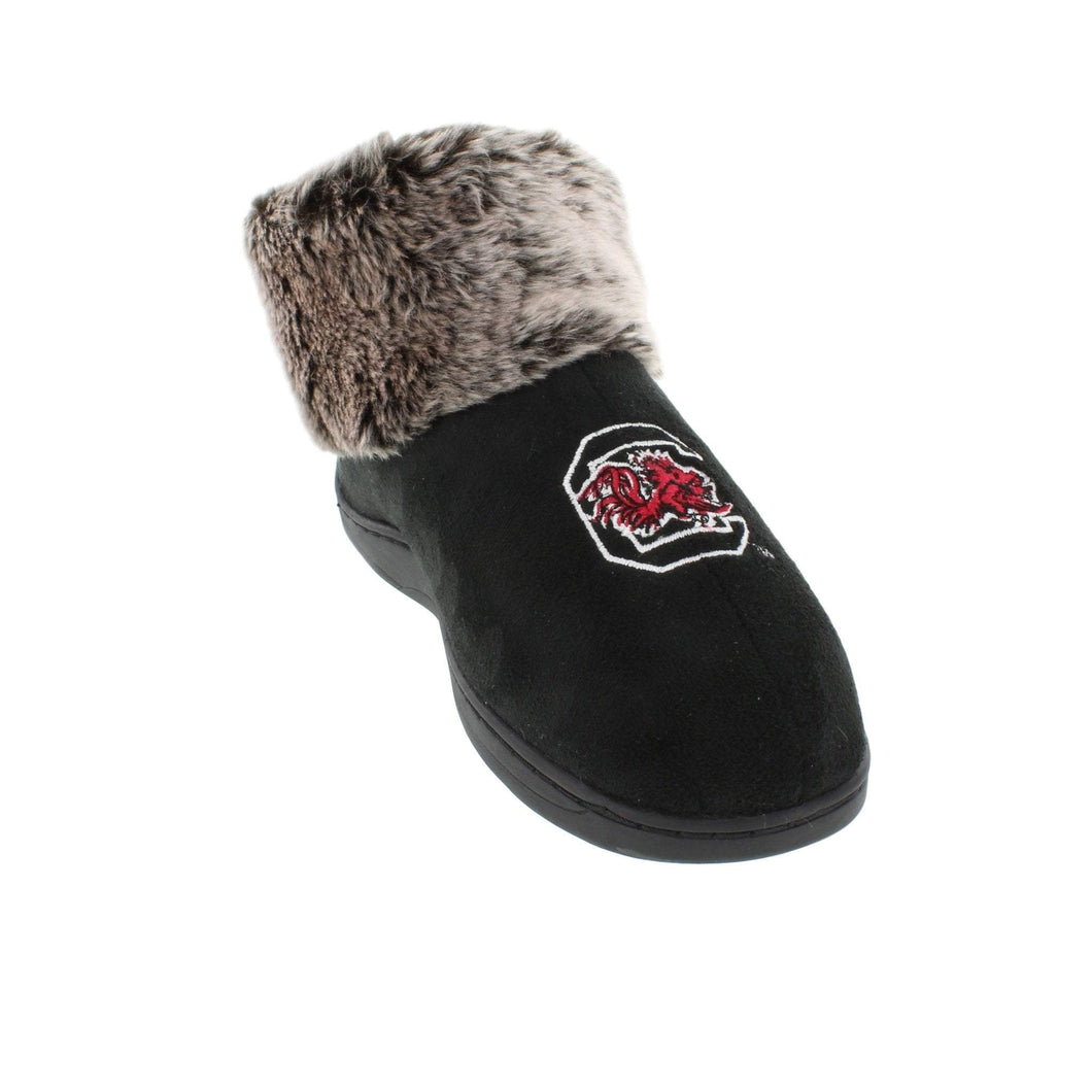 South Carolina Gamecocks Faux Sheepskin Furry Top Indoor/Outdoor Slippers