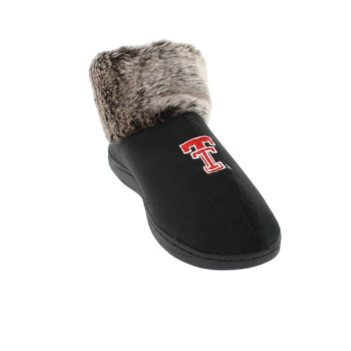 Texas Tech Red Raiders Faux Sheepskin Furry Top Indoor/Outdoor Slippers